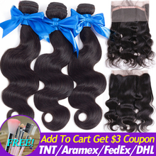 Mèches Body Wave indiennes Remy 360 Lace Frontal