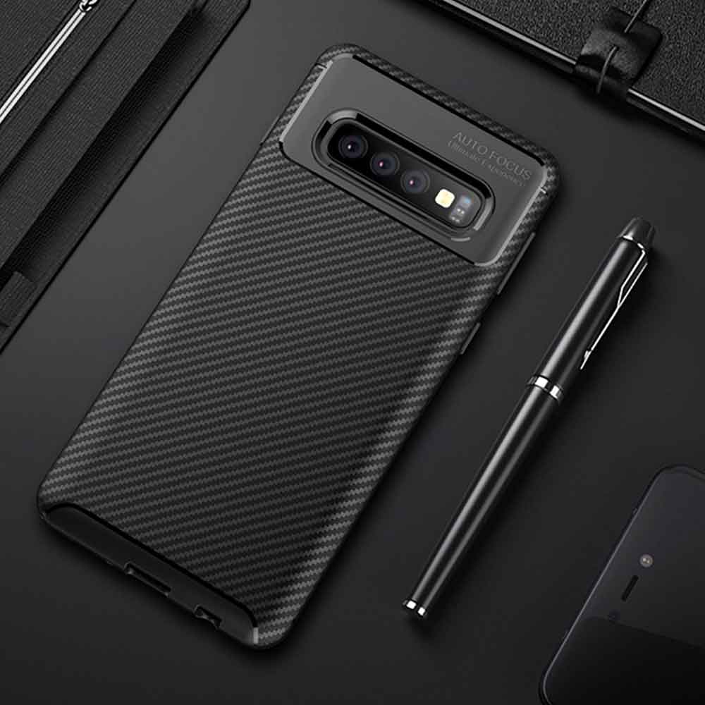 For Samsung Galaxy S10 Plus Case Carbon Fiber Cover Full Protection Phone Case For Galaxy S 10 S10e S10+ Cover Shockproof Bumper