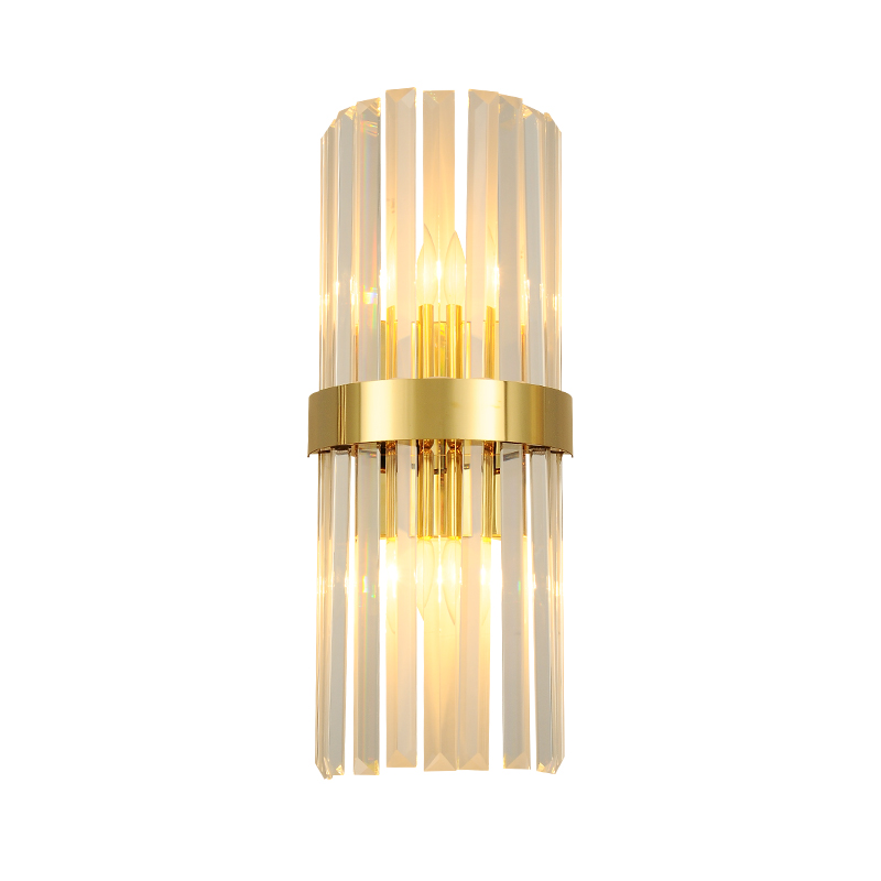 Хрустальный настенный светильник, роскошный, для гостиной, скандинавский, современный, креативный, индивидуальный, для спальни, кровати, для отеля, лестницы, коридора wa