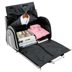 Image 3 - Men Large Travel Bags Foldable Duffle Bag Business Weekend Bags Oxford Suit Protect Cover Women Travel Bag Organizer Handbags