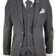 Мужской шерстяной твидовый Peaky Blinders костюм 3 шт. аутентичный 1920s Классический