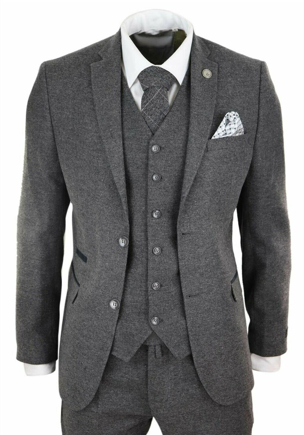 Mens Wool Tweed Peaky Blinders Suit 3 Piece Authentic 1920s Tailored Fit Classic Suits  - AliExpress