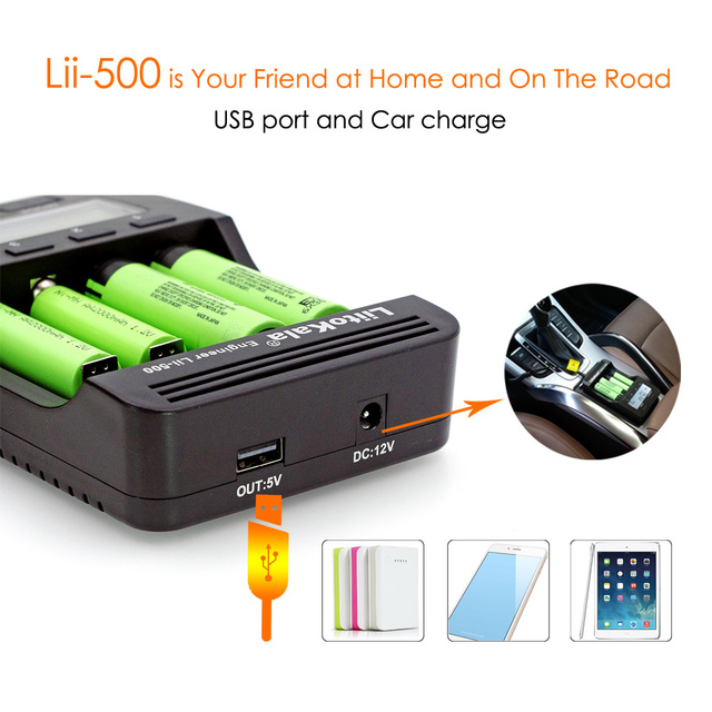 Liitokala Lii-500 Lii-402 battery charger Lii-202 Lii-100 Lii-400 18650  for 26650 21700 17355 18350 14500 AA AAA Batteries 1