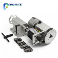 [Stock in EU] K12 100mm 4 jaw Chuck 100mm CNC 4th axis (A aixs, rotary axis)&65mm Tailstock for Mini CNC Router Engraving