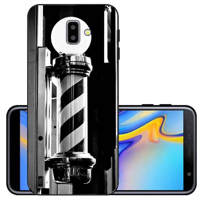 Ngộ Nghĩnh Chữ Cửa Hàng Bán Tông Đơ Cắt Tóc Silicone Mềm TPU Bao Bọc Điện Thoại Dành Cho Samsung Galaxy Samsung Galaxy J6 Plus A6 A8 A9 A10 A30 a50 Di Động Trường Hợp