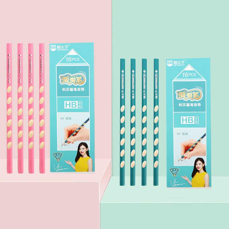 1Pc HB 2B Kawaii עץ עופרת עיפרון Creative חור עיפרון לילדים מתנת בית ספר ציוד משרדי חידוש מכתבים תיקון כלי
