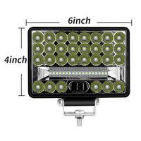 6000K luzes de Trabalho LED Branco 6000LM 4WD 48LED Trator de Condução À Prova D' Água