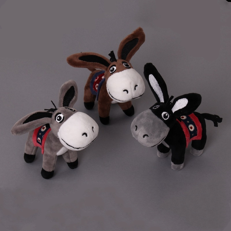 Kawaii Little Donkey Plush Cute Keychain Toys Cute Mini Pendant Soft Stuffed Animals Doll Girls Toys Bag Pendant