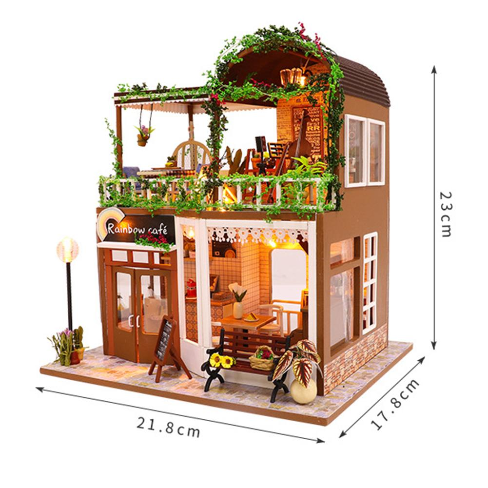Rainbow Cafe DIY 3D Dollhouse (White)