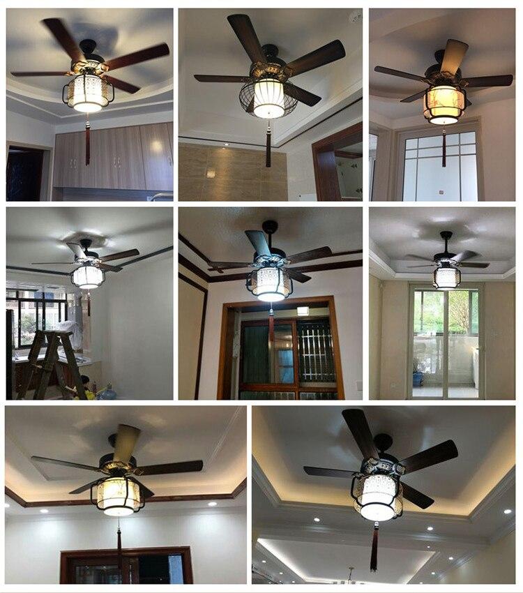 LED Ristorante Luce Ventilatore A Soffitto Soggiorno Sala da Tè Club House Lanterna Luce Ventilatore A Soffitto Ventilatore A Soffitto Led con la Luce - 4