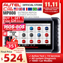 Autel MaxiPRO MP808 Diagnostic Tool OBD2 Professional OE level OBDII Diagnostics Tool Key Coding PK Autel AP200 MK808 MK808TS