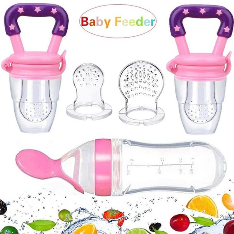 Bottle Feeder Baby Silicone Utensils Squeeze-Spoon Cutlery-Bot Toddler Children for Newborn-Accessories