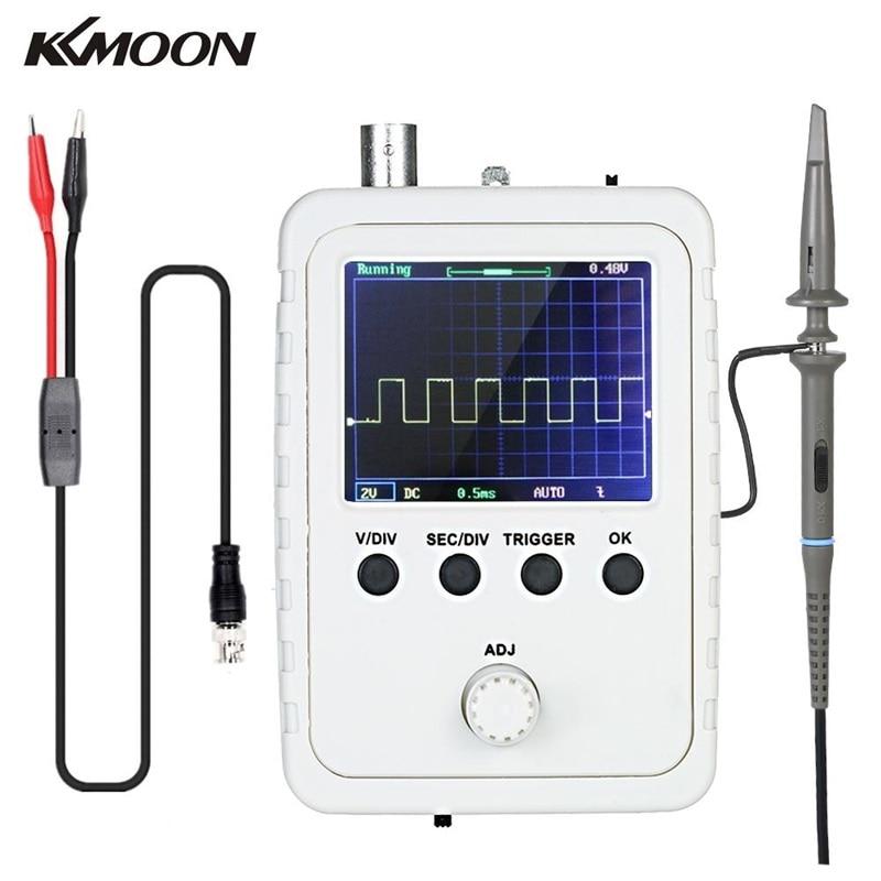 """Kkmoon 2.4 """"portátil mini tft digital osciloscópio kit analisador lógico com adaptador de energia e bnc-clipe osciloscópio cabo sonda"""