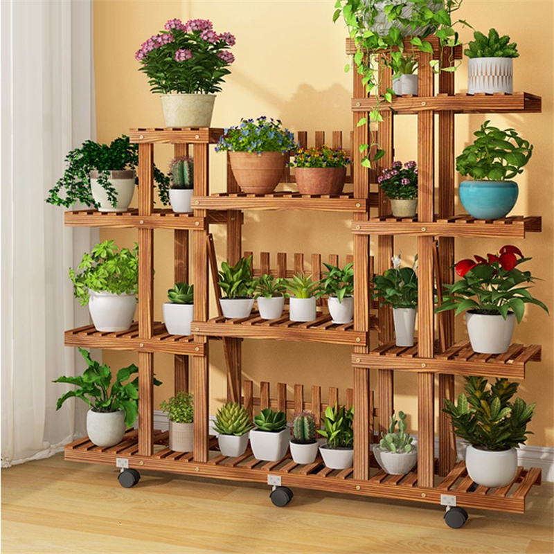 Para Macetas Etagere Pour Plante Varanda Rak Bunga Plantenstandaard Dekoration Stojak Na Kwiaty Balcony Flower Plant Shelf