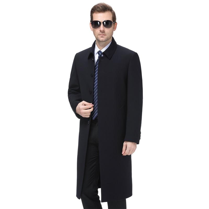 Grande taille 5xl 2019 hommes veste manteau longue Section mode Trench manteau hommes coupe vent marque décontracté Fit pardessus veste d'extérieur - 3