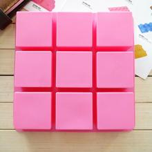 9 Cavities Square Silicone Ice Cube Tray Maker Cookie Mold DIY Baking Tools