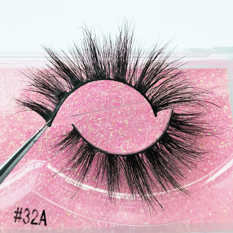 SHIDISHANGPIN 1 Pair 3D Mink Lashes Makeup Fluffy Natural Mink Eyelashes Long Fake Lash Dramatic False Eyelashes Maquiagem 32A