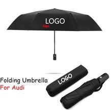 Umbrella Parasol Car-Logo Business-Sunshade Audi Automatic for A1 A3 A4 B5 B6 B7 B8 A5
