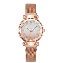 Reloj Mujer Fashion Casual Luxury Starry Sky Women Watches Gradation Noctilucent Gold Magnetic Mesh Belt Watch Ladies Wristwatch