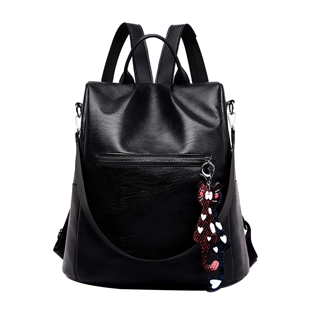 Backpack Women Color Matching Wild Fashion Leisure Travel Bag Student Bag Pure Color Teenager Backpack Mochila Mujer