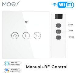 RF WiFi Smart Touch zasłona rolety rolety przełącznik Tuya inteligentne życie pilot aplikacji sterowania  praca z Alexa Echo Google Home w Moduły automatyki domowej od Elektronika użytkowa na