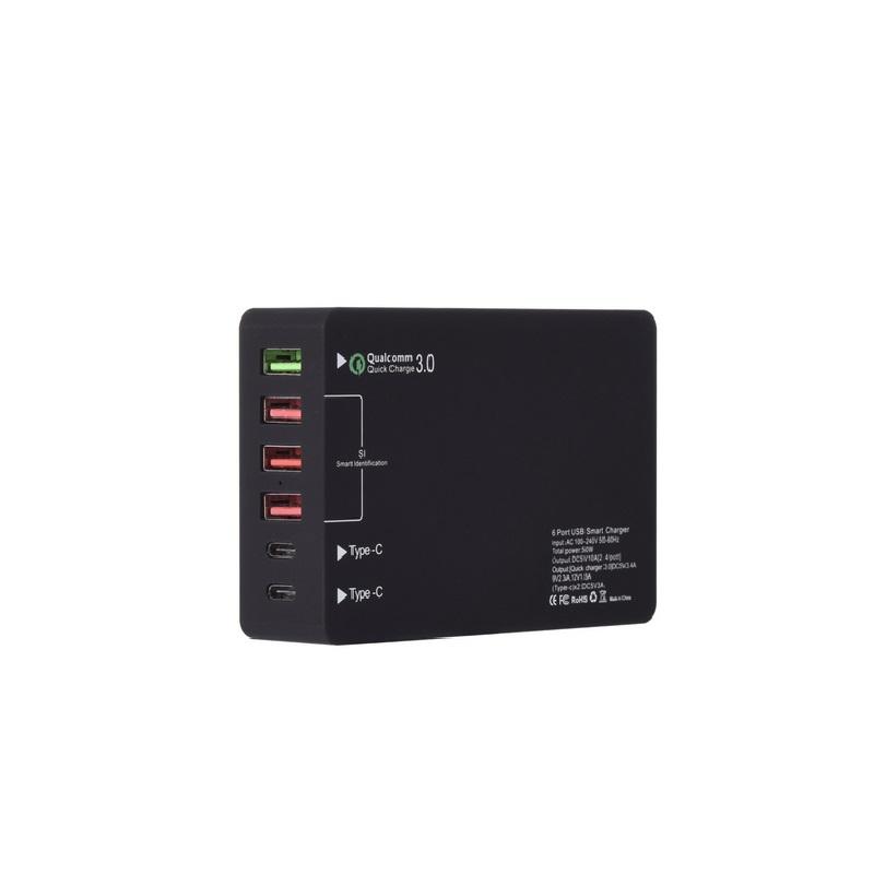 Быстрая зарядка с 6 портами быстрая qc 30 зарядная станция портом