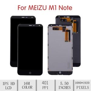 """Image 2 - 5.5 """"tela para meizu m1 nota lcd assembléia digitador da tela de toque para meizu note1 display com substituição do quadro m463u m463m m463"""