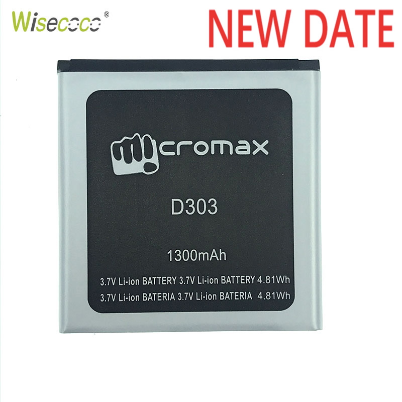 Wisecoco 2019 New D303 Rechargeable Li-ion Battery For Micromax D303 D 303 Cell Phone Repair Replacement + Tracking Number