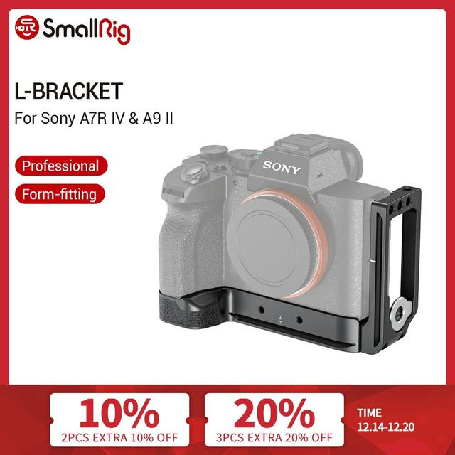 SmallRig A7R IV L Bracket Plate for Sony A7R IV Arca Swiss Standard Side Plate+ Baseplate L Plate Mounting Plate   2417