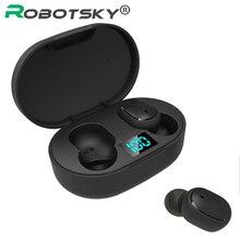 Bezprzewodowe słuchawki douszne dla Xiaomi Redmi Airdots słuchawki Bluetooth 5.0 TWS słuchawki z redukcją szumów Mic dla iPhone 11 Samsung A6S