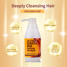 Hot Sale Salon Purifying Shampoo Straighten For Keratin Hair Treatment Deep Cleaning Shampoo 300ml Free Shipping