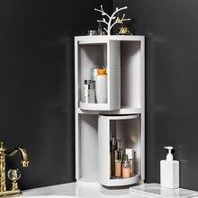 Newest Multi-function Storage Rack 360 Degree Rotating Triangular Shelf for Bathroom Corner