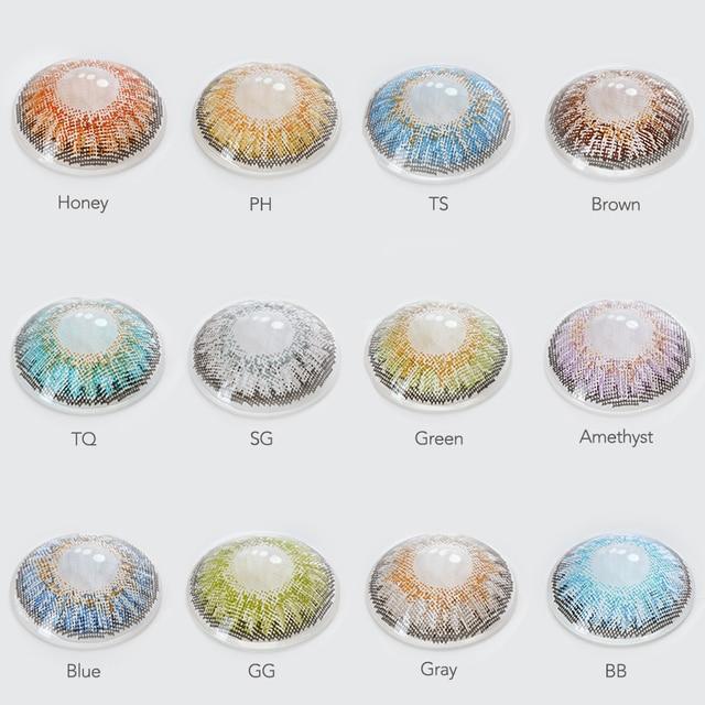 2pcs/pair 3 Tone Series Colored Contact Lenses 3