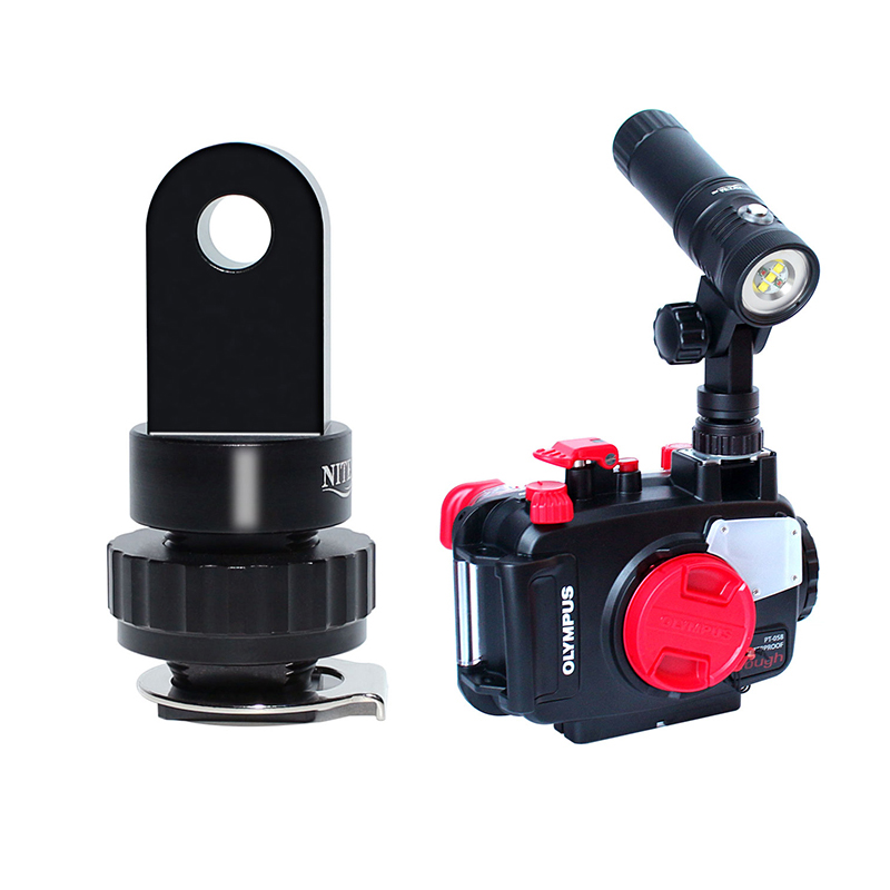 """6/"""" Double Ball Head w// YS Head Arm System for Diving Underwater Camera Handle"""