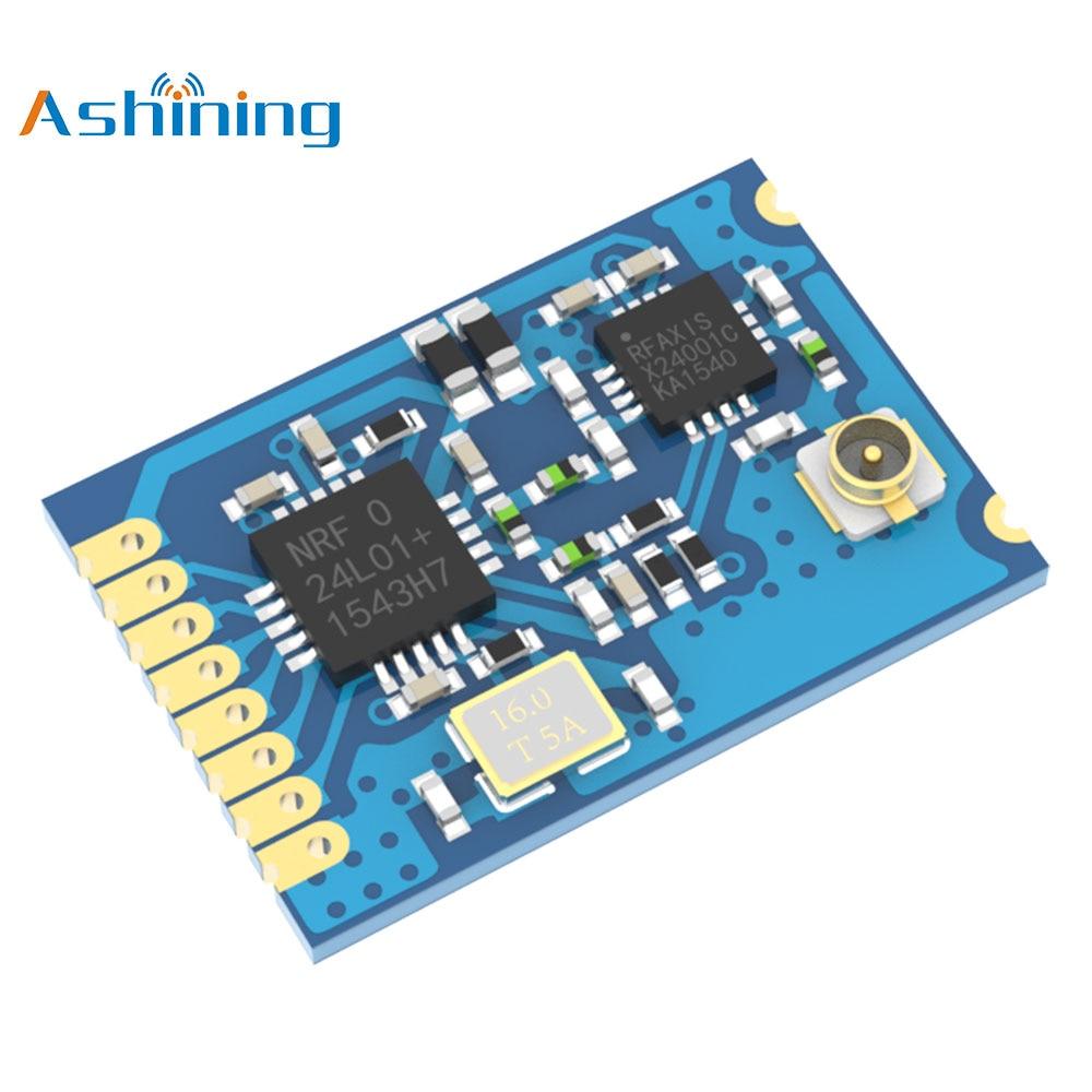 24ghz Wireless Communication Module AS01-SPIPX Audio Transceiver Pa Lna Programmable Rf Transmitter Nrf24l01 Sma
