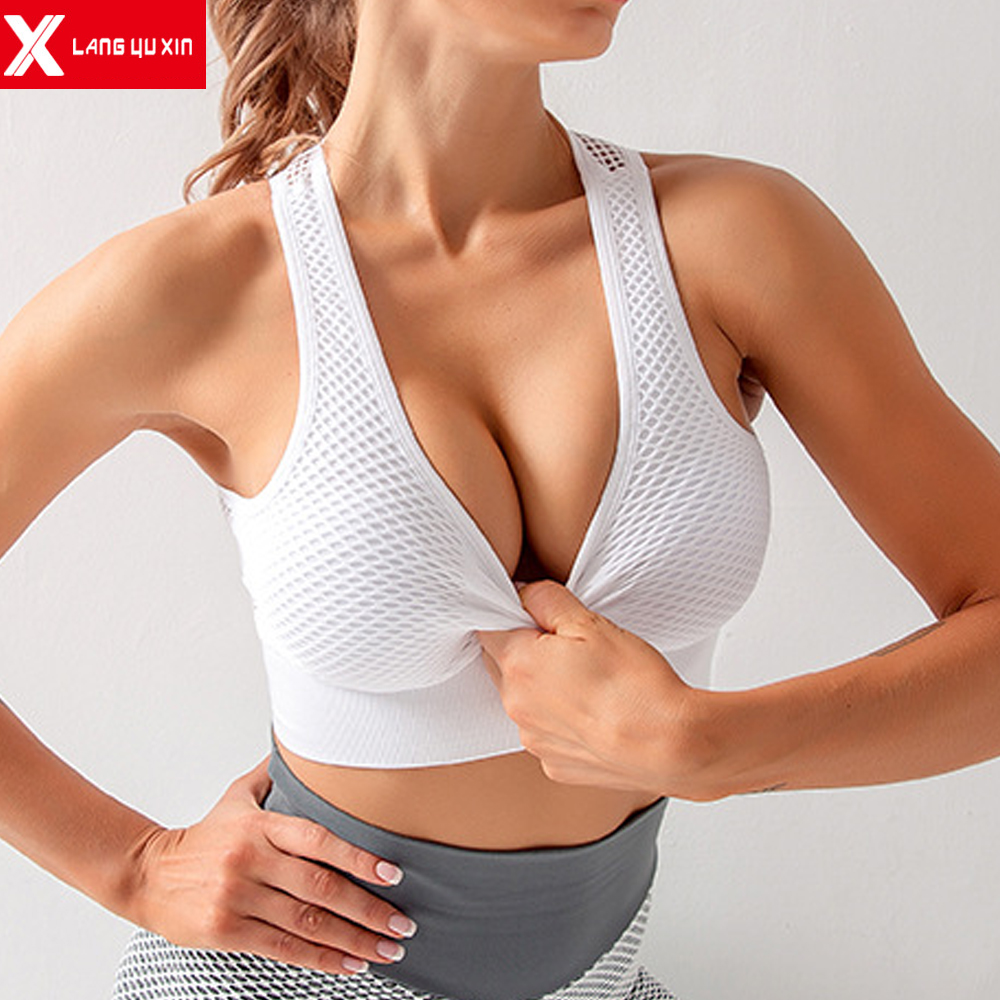 2020 New Women's High Impact Beautiful Back Bra Seamless Breathable Sports Yoga Running Fitness Underwear Female Sport Bras