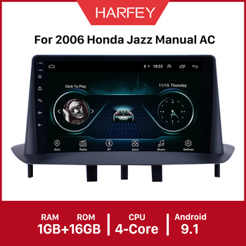 Harfey Car Multimedia Car GPS video 9 inch Android 9.1 for Renault Megane 3 2009 2010 2011 2012 2013 2014 support Carplay SWC image