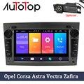 Автомобильный DVD-плеер AUTOTOP 2 Din, Android 9,0, GPS для Opel Vauxhall Astra Meriva Vectra Antara Zafira Corsa Agila, 7 дюймов, GPS, радио, плеер без DVD