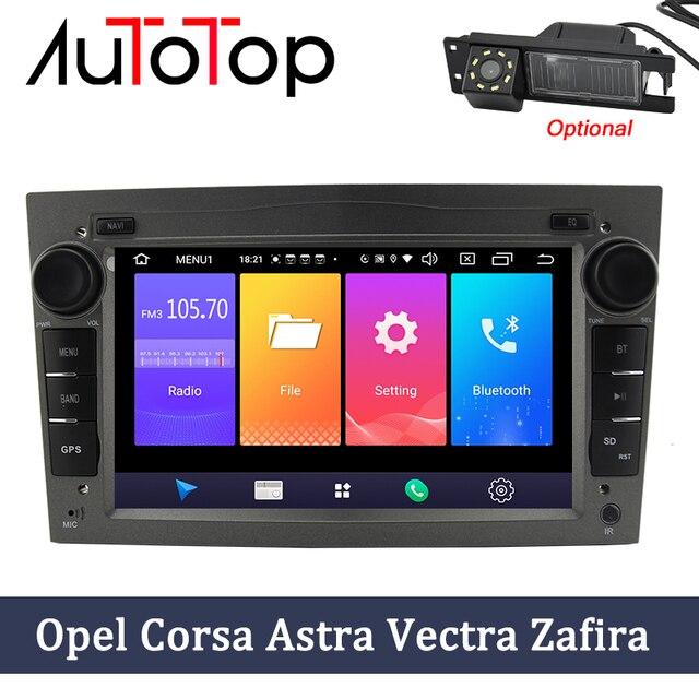 """AUTOTOP 2 Din Android 9.0 araç DVD oynatıcı GPS için Opel Vauxhall Astra Meriva Vectra Antara Zafira Corsa Agila 7 """"GPS radyo oynatıcısı yok DVD"""
