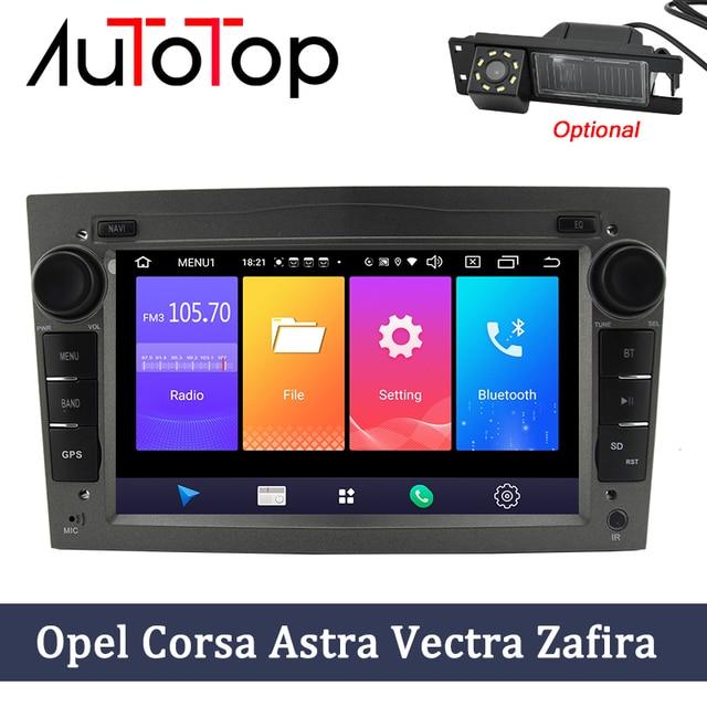 """Autotop 2 ディンアンドロイド 9.0 カー dvd gps オペル vauxhall meriva でベクトラアンタラ zafira corsa agila で 7 """"gps ラジオプレーヤーなし dvd"""