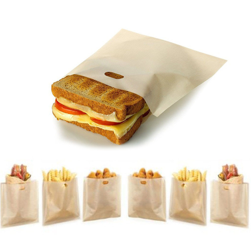 Toaster Bags Non-stick Teflon Bread Bags Toasting Accessories For Grilled Cheese Sandwiches Household Cooking Tools image