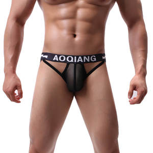 Underwear Jockstrap Sexy Mesh Double-Thong Breathable Comfort 03 Hot-Color