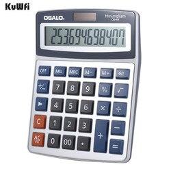 Desktop calculadora eletrônica 12 dígitos grande display solar bateria dupla fonte de alimentação para escritório gt função 3 teclas memória