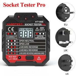 Электрический тестовый тестер на розетка Pro, тестер на выходе, ЕС/США/Великобритания, проводная цепь, полярность, настенный выключатель, тес...