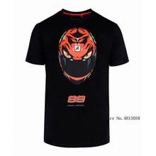 Moto Gp Racing Jorge Lorenzo 99 T-shirt Helm Mode Stijl Mannen Sprots Zwart Shirt Jersey Moto Cross Moto Rcycle outdoor Tee