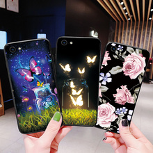 Fashion Flower Black TPU Bags For Vivo Y85 Y95 Y91 Y91i Cases Beautiful Bottle Rose Fundas VIVO X9 X9S Plus Phone Case Cover
