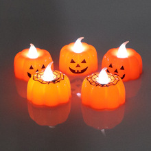 2019 New Pumpkin Candle Lights Halloween Decoration Warm White Home Accessories
