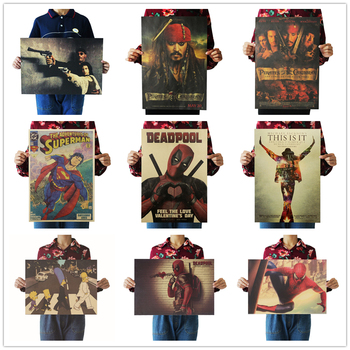 Deadpool Movie  Famous view kraft paper Cafe bar pub poster Retro Poster decorative painting