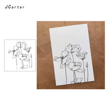 JC Clear Rubber Stamps Lotus Flower Transparent Silicone Scrapbooking Paper Card Making Craft Decoration New Stamp 2019