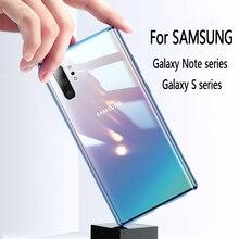 Funda de Metal de adsorción magnética para Samsung Galaxy S20, 10, S9, S8 Plus, cubierta trasera de vidrio templado con imán para Note 10, 8, 9 PLUS